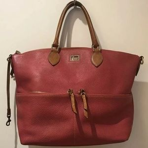 Dooney & Bourke Red Large Leather Tote Bag